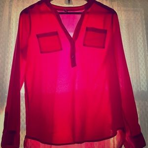 Old Navy pink tunic blouse